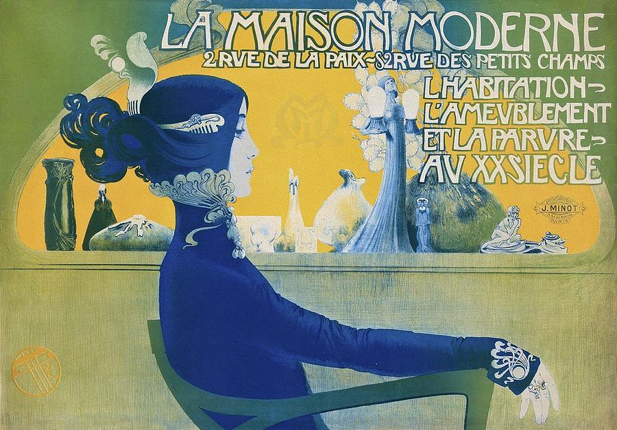 Art Nouveau Painting - La Maison Moderne 1900 by Manuel Orazi