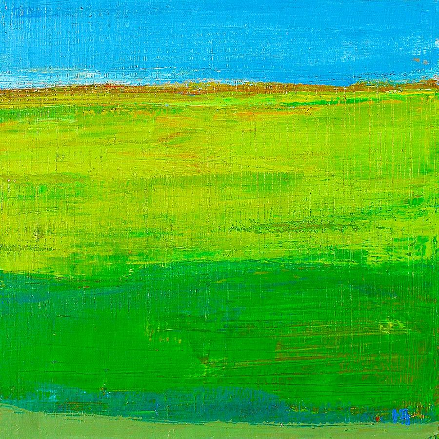 Landscape Painting - La Nature Verte by Habib Ayat