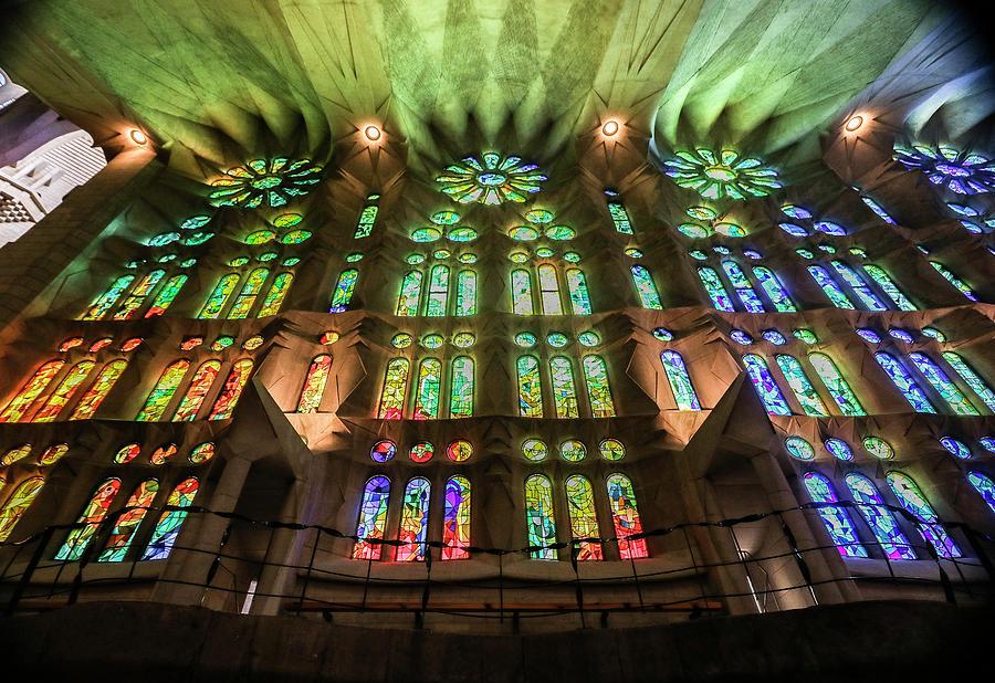Basilica De La Sagrada Familia Photograph - La Sagrada Familia, Barcelona, Spain by Venetia Featherstone-Witty