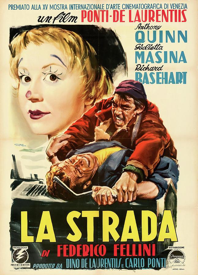 la Strada,. With Anthony Quinn, 1954 Mixed Media