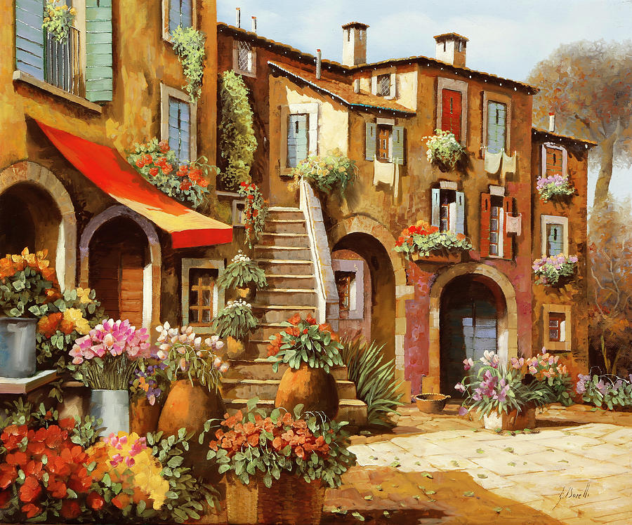 La Scale In Cortile Painting
