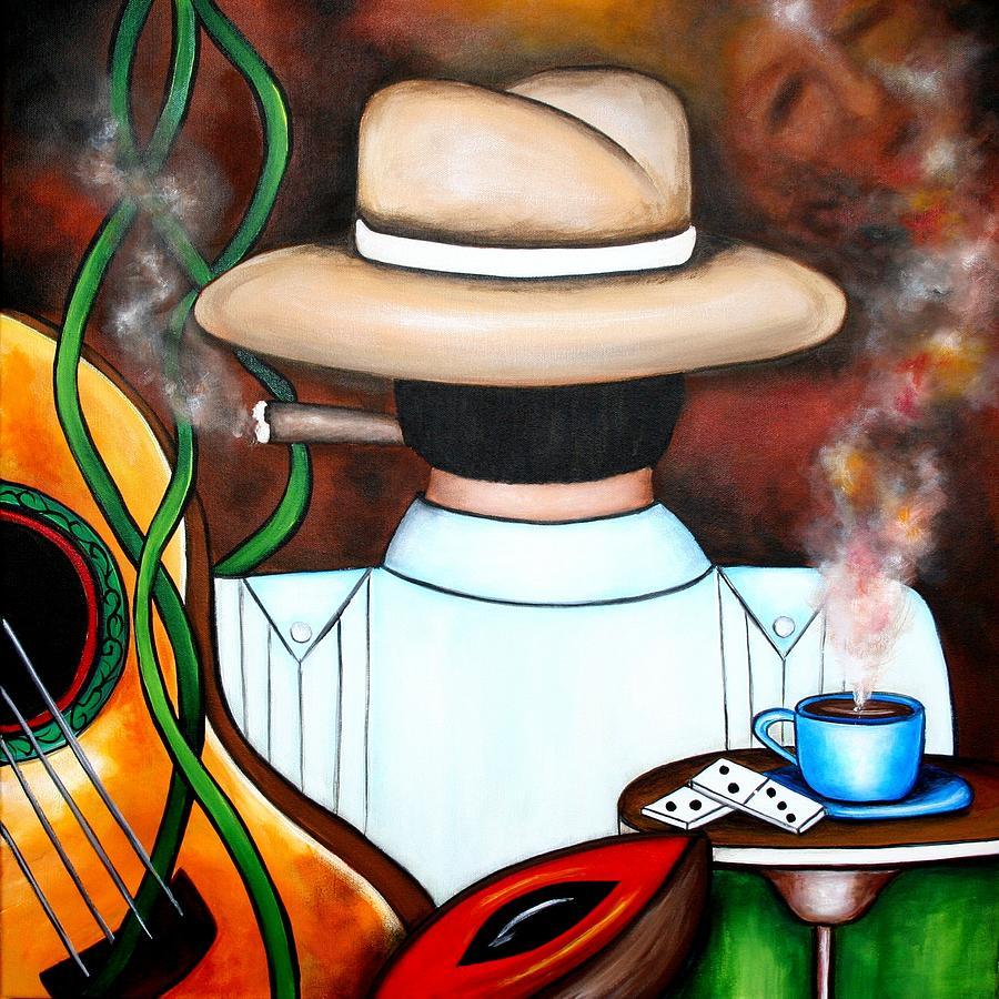 Musical Painting - La Vida Con Amor by Annie Maxwell