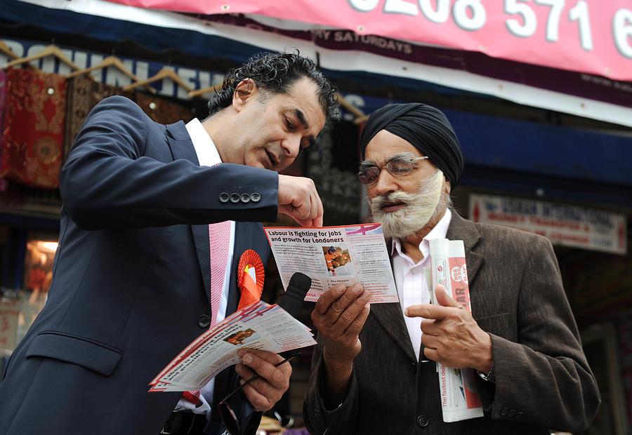 Labour MEP Claude Moraes  Canvasses Ahead Of The European Elections Photograph by Stuart C. Wilson
