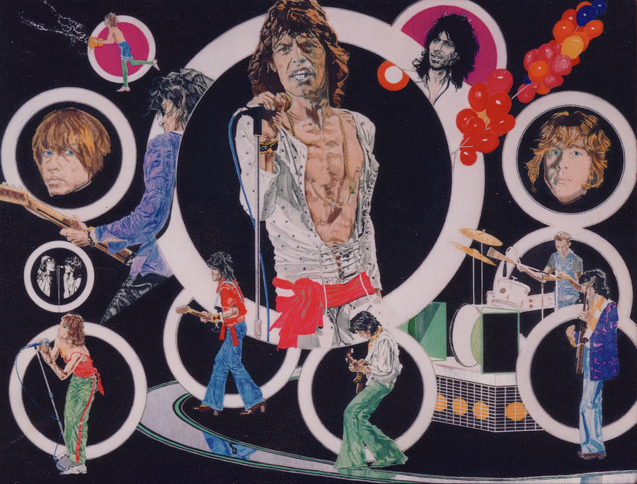 The Rolling Stones Drawing - Ladies And Gentlemen - The Rolling Stones by Sean Connolly