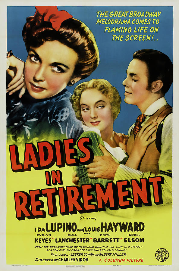 ladies In Retirement, With Ida Lupino And Louis Hayward, 1941 Mixed Media