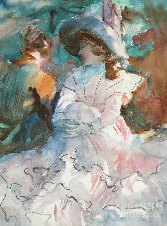 Sargent Painting - Ladies In The Shade Abries, 1912 by John Singer Sargent