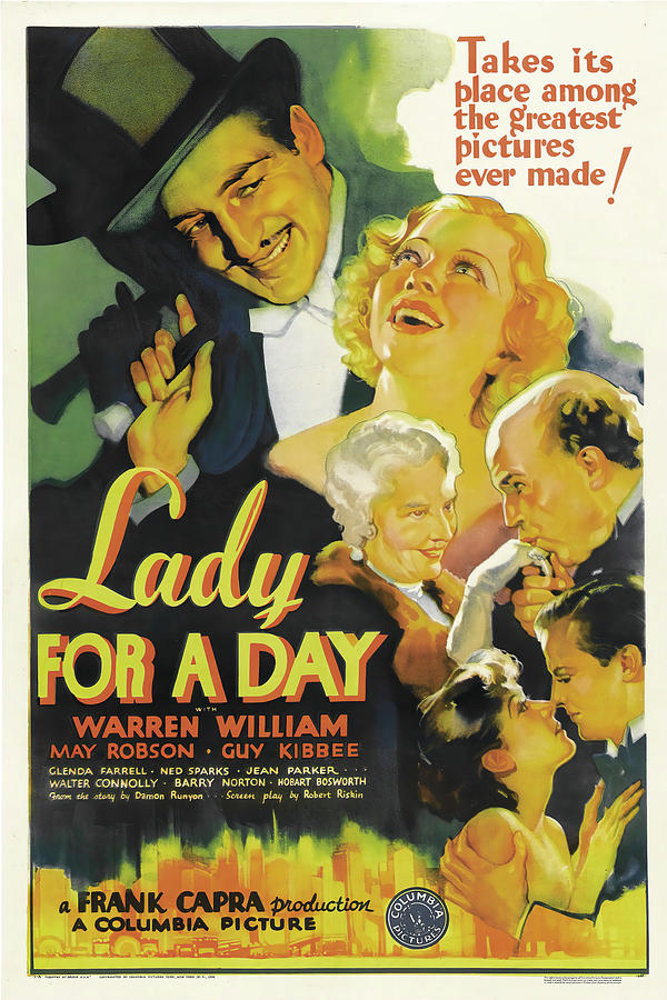 lady For A Day - 1933 Mixed Media