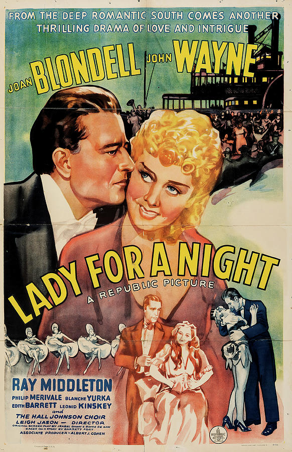 lady For A Night 1942 Mixed Media
