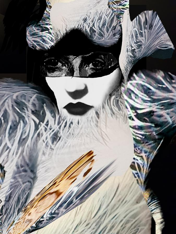 Surrealism Digital Art - Lady in fake fur by Gunilla Munro Gyllenspetz