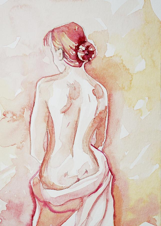 Lady In Pink #2 Painting