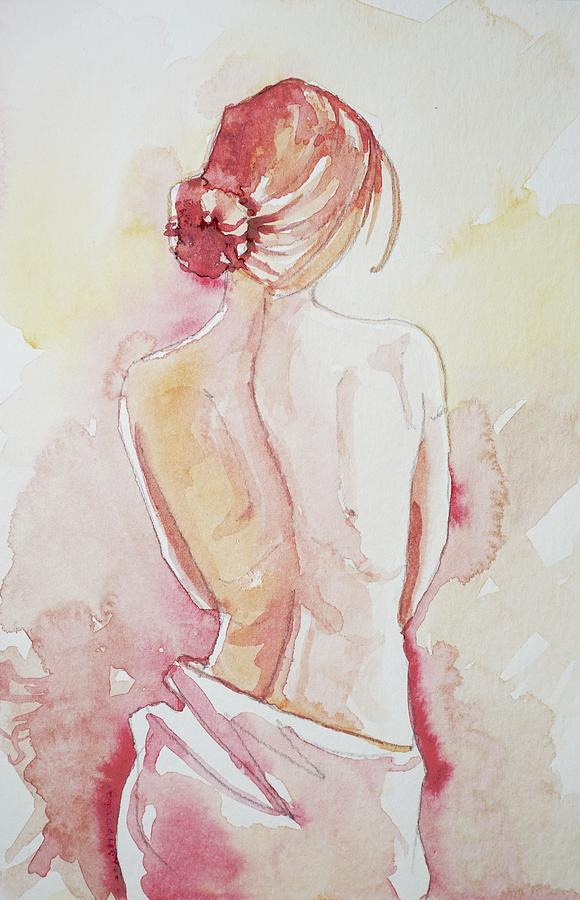 Lady In Pink Painting