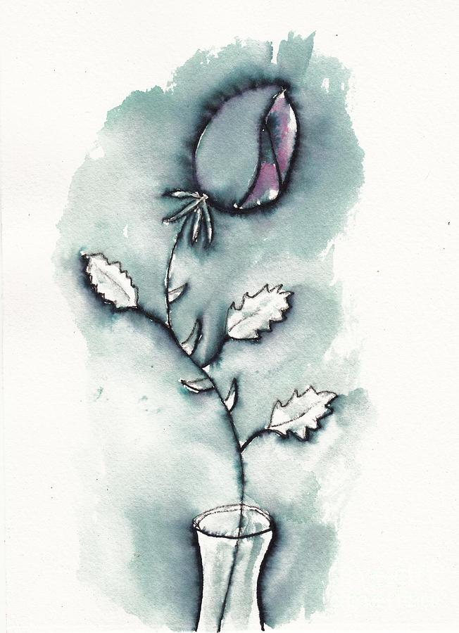 Lady In Waiting - Rosebud Drawing