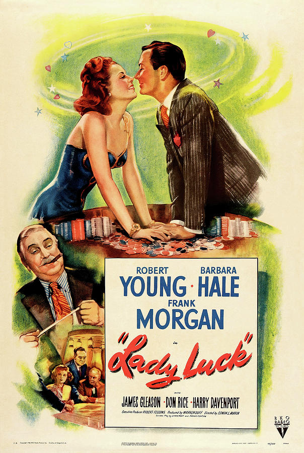 lady Luck, With Robert Young And Barbara Hale, 1946 Mixed Media
