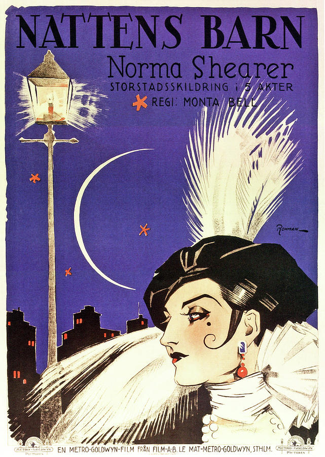lady Of The Night, With Norma Shearer, 1925 Mixed Media