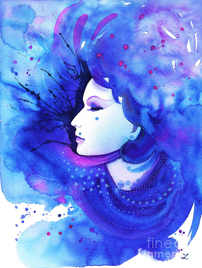 Lady Winter Painting