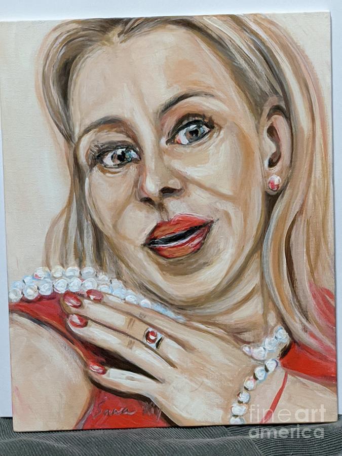 Lady with Pearls by Oksana Semenchenko