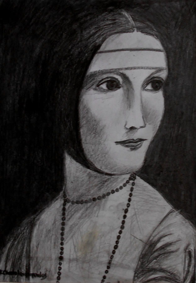 Lady Without Hermine Painting