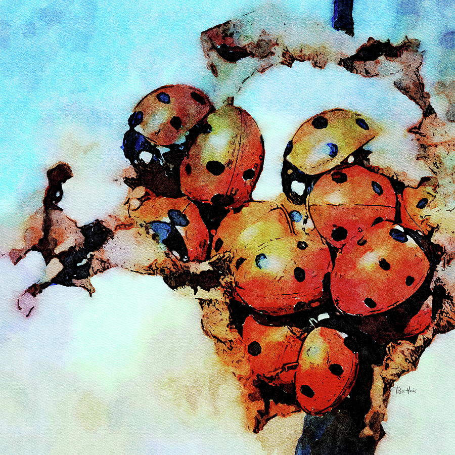 Ladybug Luncheon Painting