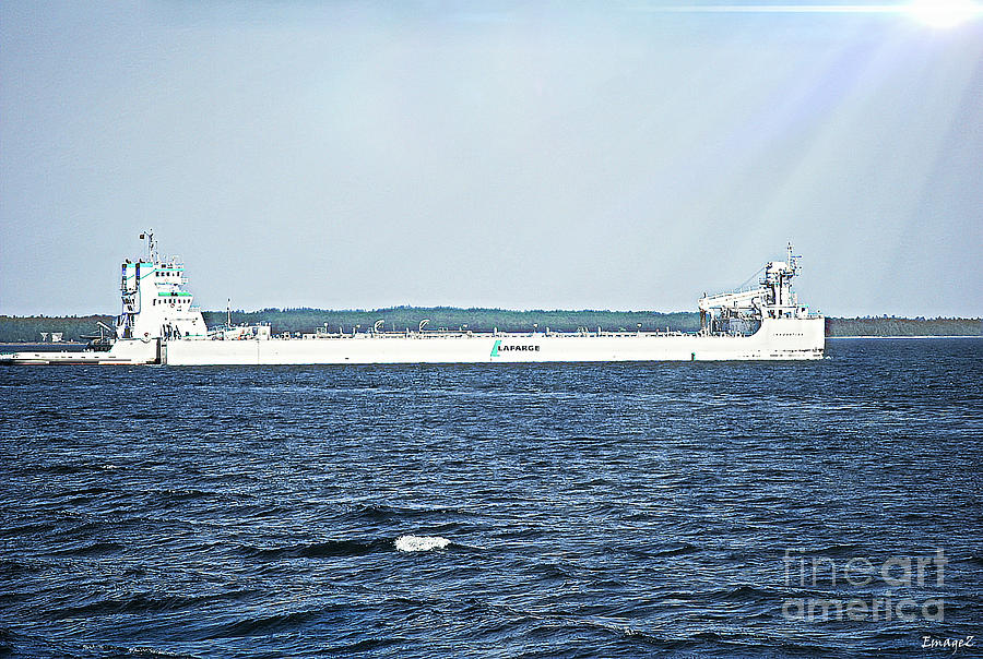 Lafarge Great Lakes Barge Photograph
