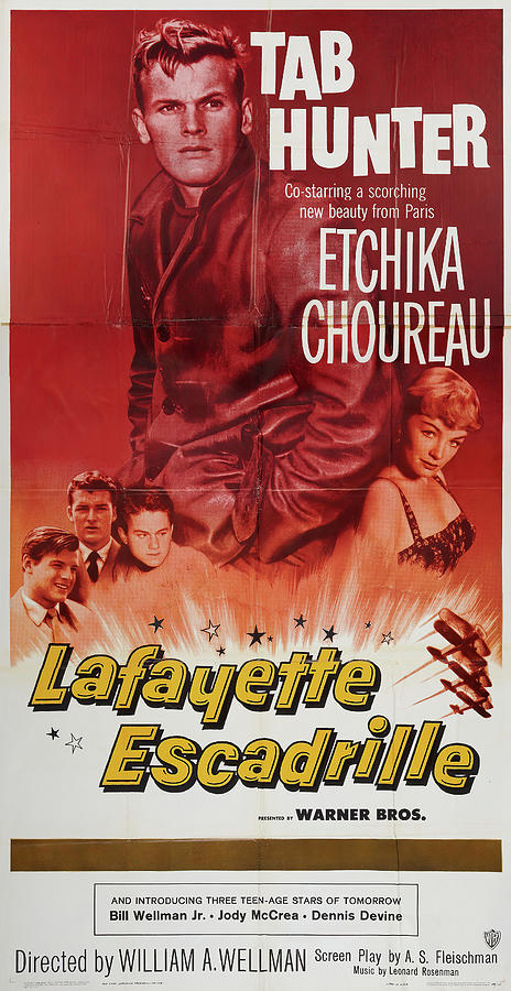lafayette Escadrille, With Tab Hunter And Etchika Choureau, 1958 Mixed Media