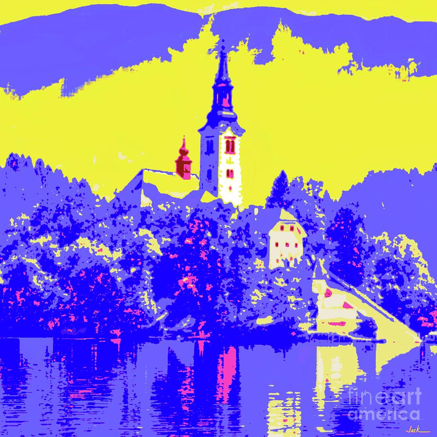Lake Bled Painting - Lake Bled by Jack Bunds