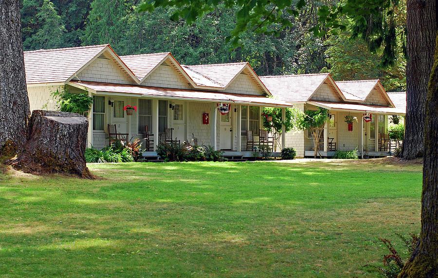 Lake Crescent Cottages Photograph
