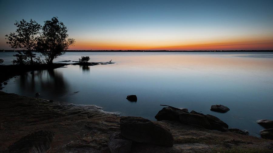 Lake Dallas At Sunset Photograph