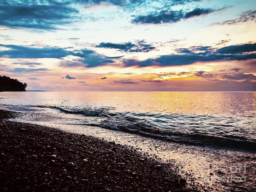Lake Erie Bluffs Dusk Photograph