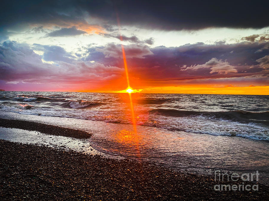 Lake Erie Glimmers Photograph