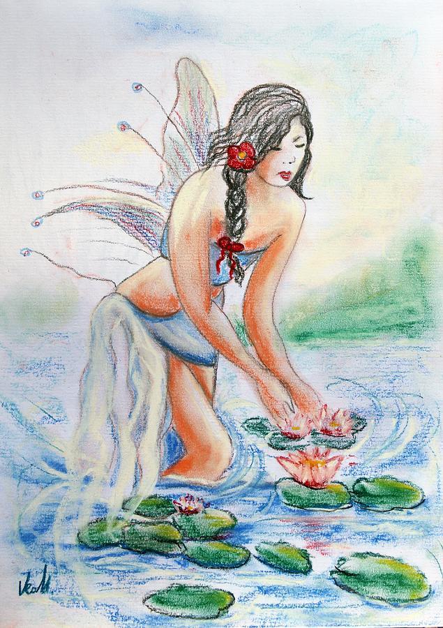 Lake Fairy Drawing