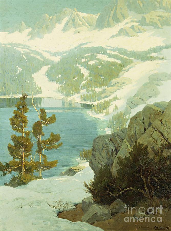 Lake Painting - Lake George, Sierra Nevada by Elmer Wachtel