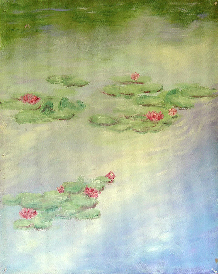Lilly Pads Painting - Lake Highland Lillies by Diane Martens