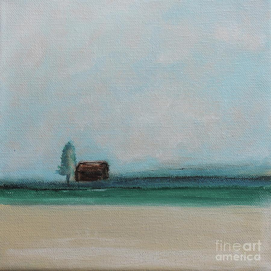 Beige Painting - Lake House by Kim Nelson