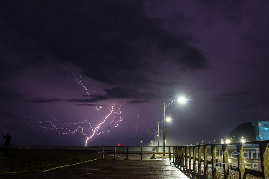 Lightning Photograph - Lake Huron Fury by Francis Lavigne-Theriault