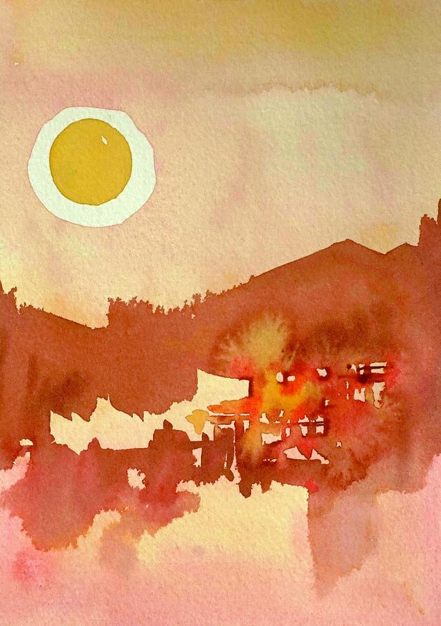New Mexico Sunset Painting