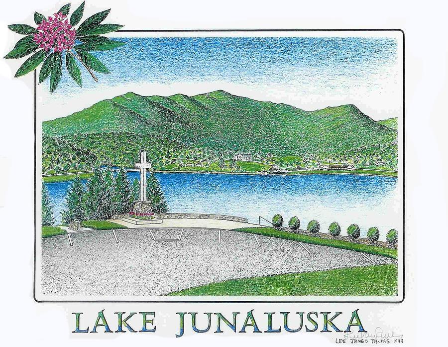 Lake Junaluska Drawing - Lake Junaluska by Lee Pantas