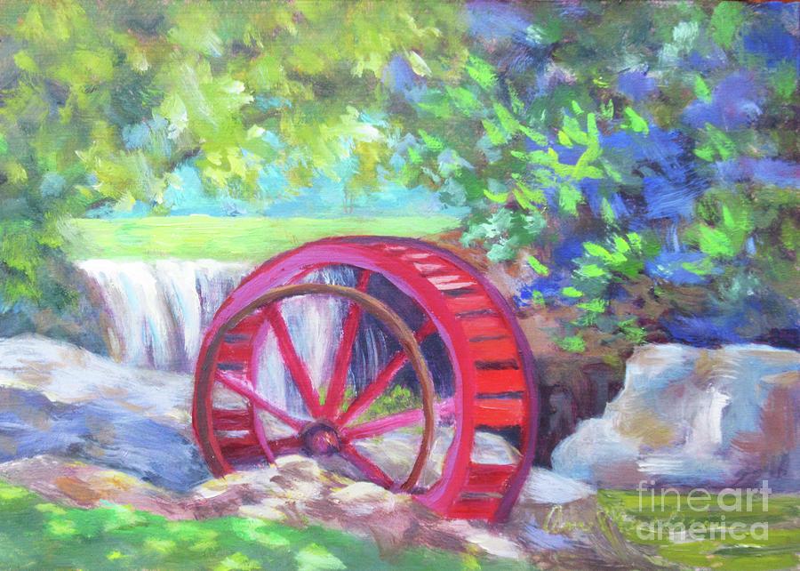 Lake Louise Waterwheel by Anne Marie Brown