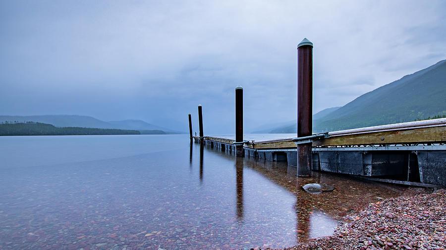 Lake McDonald Sunrise Dock II Signed by Karen Biwersi