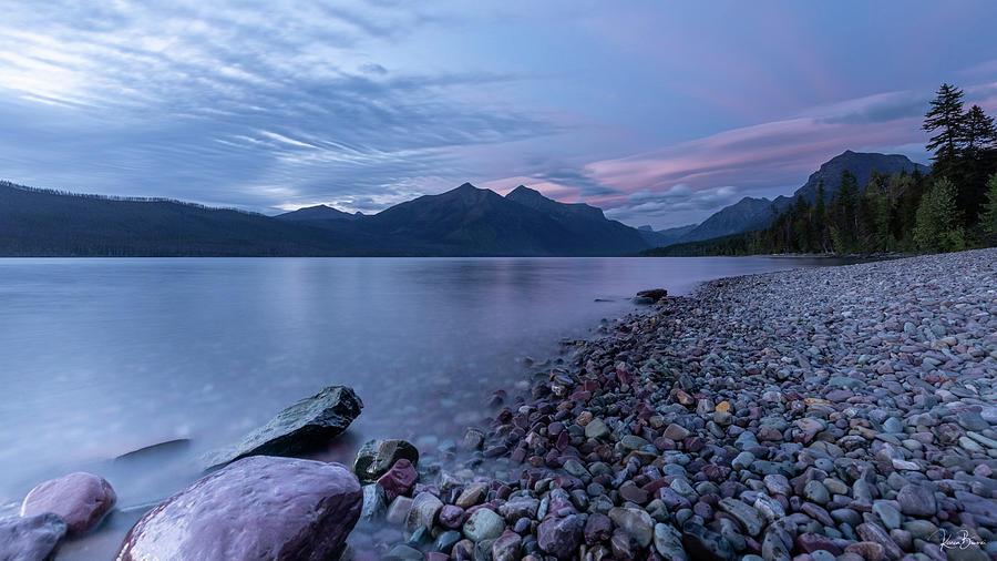 Lake McDonald Sunset II Signed by Karen Biwersi
