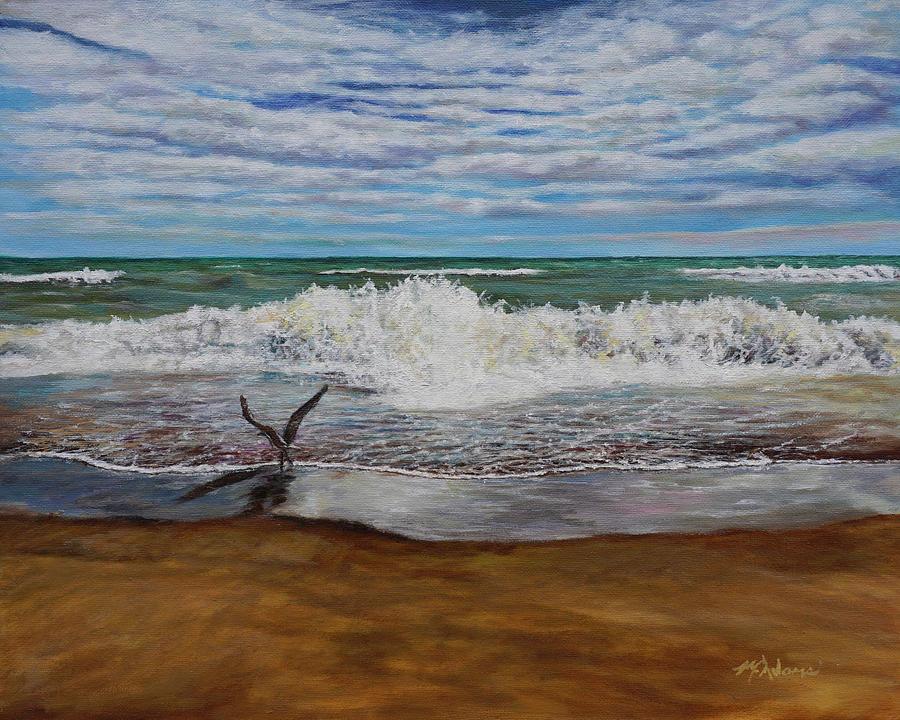 Lake Michigan Painting - Lake Michigan Prism #4 by Morgan Adams