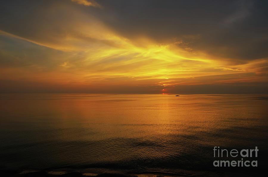 Lake Michigan Sunset Cruise Photograph