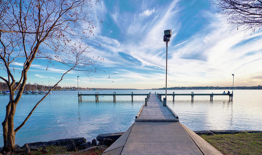 Lake Pier Dallas Sunset 011420 by Rospotte Photography