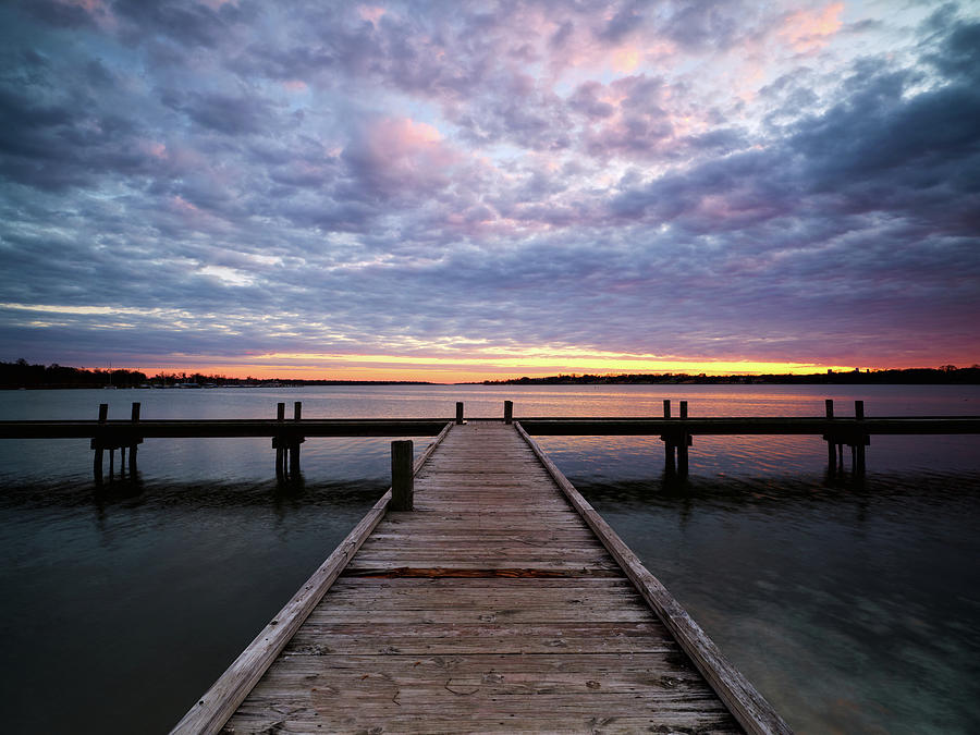 Lake Pier Sunset 012320 by Rospotte Photography
