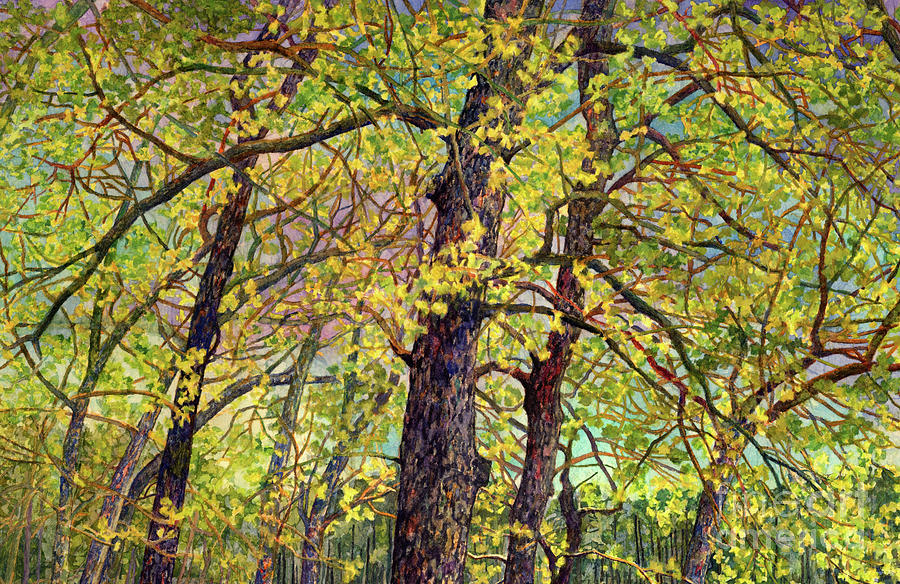 Lake Raven In Spring-budding Leaves Painting
