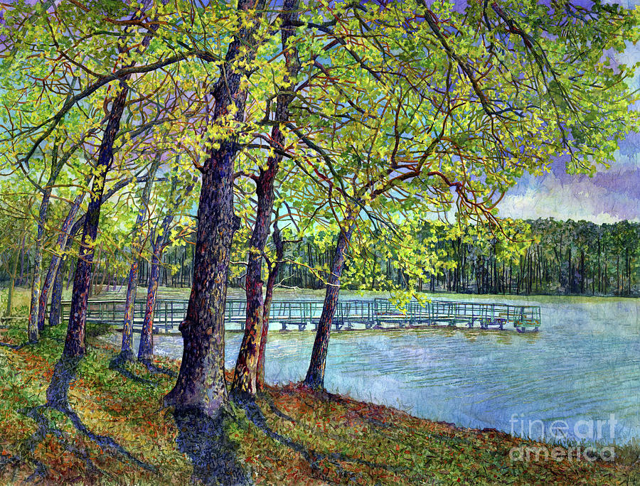 Lake Raven In Spring, Huntsville State Park Painting
