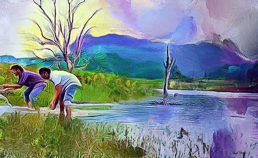 Lake Refreshment by Wayne Pascall