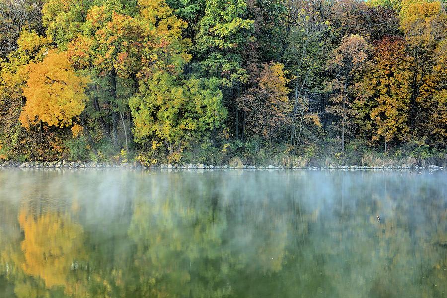 Lake Photograph - Lake Steam 3 by Bonfire Photography