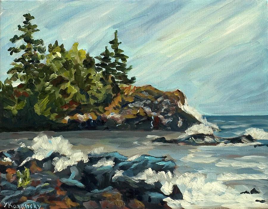 Lake Superior Shore by Yulia Kazansky