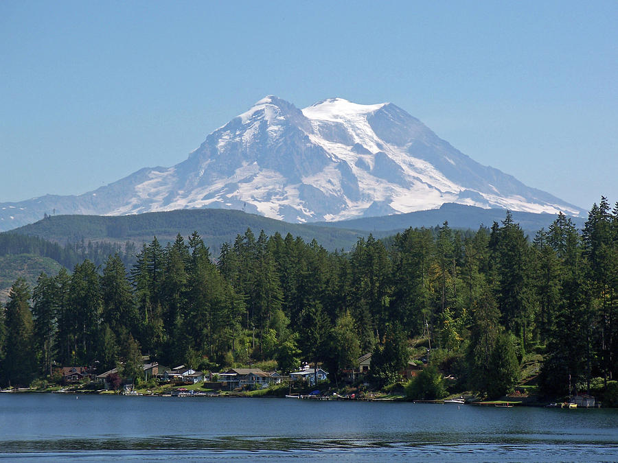 Lake View of Mt. Rainier- by Tikvah's Hope