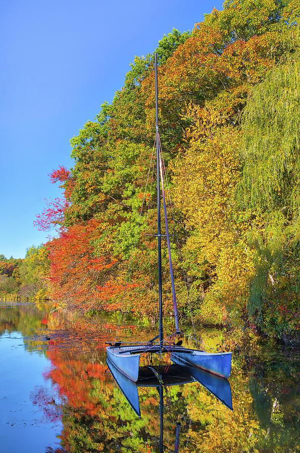 Lake Waban Catamaran by Juergen Roth